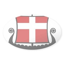 Danish Flag Longship Decal