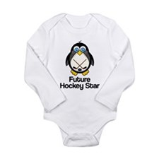 Future Hockey Star Long Sleeve Infant Bodysuit