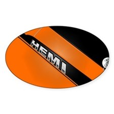 ORANGE HEMI Rectangle Decal