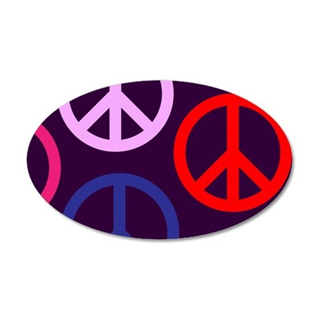 Peace Collage 35x21 Oval Wall Decal