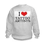 I Love Tattoo Artists Kids Sweatshirt