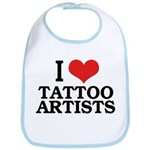 I Love Tattoo Artists Bib