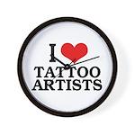I Love Tattoo Artists Wall Clock