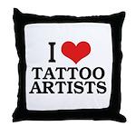 I Love Tattoo Artists Throw Pillow