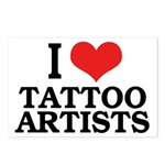 I Love Tattoo Artists Postcards (Package of 8)