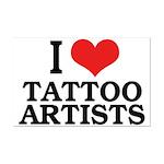 I Love Tattoo Artists Mini Poster Print