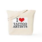 I Love Tattoo Artists Tote Bag