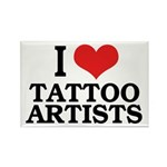 I Love Tattoo Artists Rectangle Magnet (10 pack)