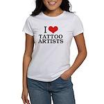 I Love Tattoo Artists Women's T-Shirt