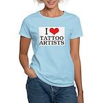 I Love Tattoo Artists Women's Pink T-Shirt