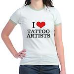 I Love Tattoo Artists Jr. Ringer T-Shirt