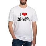 I Love Tattoo Artists Fitted T-Shirt