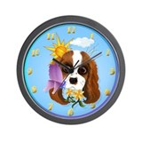 Puppy and Nature-Trans (1) Wall Clock