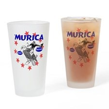 Murica Eagle and Cowboy Drinking Glass