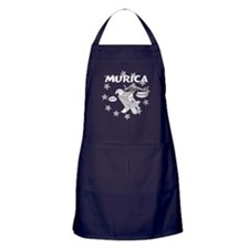 Murica Cowboy and Eagle Apron (dark)