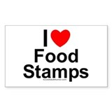 Food Stamps Clear Rectangle Decal