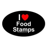 Food Stamps Oval Decal