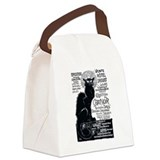 Chat Noir Cat Canvas Lunch Bag