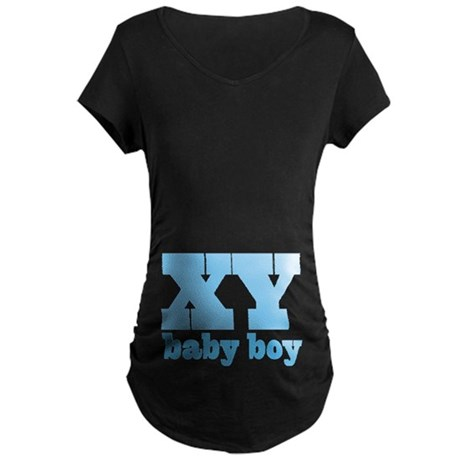 XY Chromosome Baby Boy Design Maternity T-Shirt