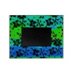 Picture Frame Black Lace with Blue/Green backgroun
