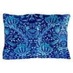 Pillow Case-Blue Paisley Pattern