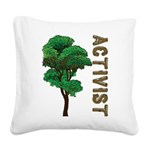 Activist Square Canvas Pillow