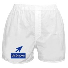 Kiss the Groom Boxer Shorts