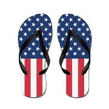 Patriotic US Flag Flip Flops