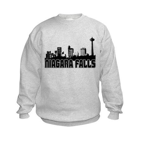 Niagara Falls Skyline Kids Sweatshirt