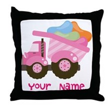 Personalized Jelly Bean Truck Throw Pillow