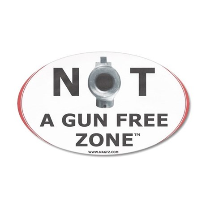NOT A GUN FREE ZONE Wall Decal