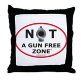 NOT A GUN FREE ZONE Throw Pillow