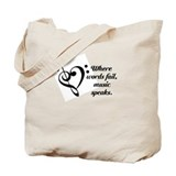 Music Speaks Tote Bag