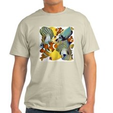 Fish Party Ash Grey T-Shirt