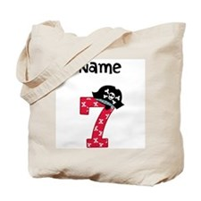 Pirate Seventh Birthday Tote Bag