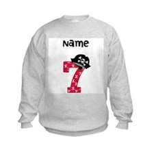 Pirate Seventh Birthday Sweatshirt