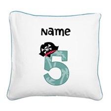 Pirate Fifth Birthday Pillow
