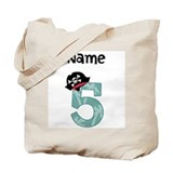 Pirate Fifth Birthday Tote Bag