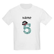 Pirate Fifth Birthday T-Shirt