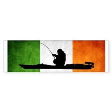 Irish Flag / Kayak Angler - Bumper Sticker