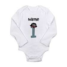 Pirate First Birthday Body Suit