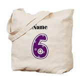 Personalized 6 Tote Bag