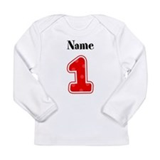 Personalized 1 Long Sleeve Infant T-Shirt