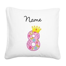 Personalized Princess 8 Square Canvas Pillow