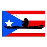 Puerto Rican Kayak Angler - Decal