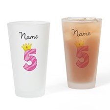 Personalized Princess 5 Drinking Glass