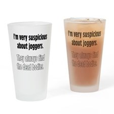 Jogger Suspicions Drinking Glass