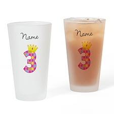 Personalized Princess 3 Drinking Glass