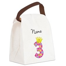 Personalized Princess 3 Canvas Lunch Bag