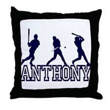 Baseball Anthony Personalized Throw Pillow